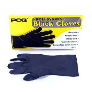 PCQ PROFESSIONAL BLACK GLOVES - M